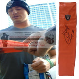 Football End Zone Pylons-Autographed - Connor Cook Signed Oakland Raiders TD Pylon, Proof Photo- Collage- 1