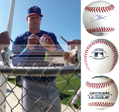 Baseballs- Autographed- Corey Kluber Signed Rawlings ROLB1 Baseball - Texas Rangers - Cleveland Indisns - Proof Collage 2