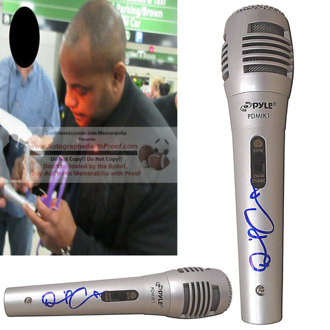 Microphones-Autographed - Daniel Cormier Signed Pyle Full Size Microphone, Proof Photo Collage 1