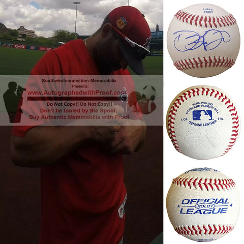 Baseballs-Autographed - Danny Espinosa Signed Rawlings ROLB1 Leather Baseball, Proof Photo- Washington Nationals- Tampa Bay Rays- Collage- 1