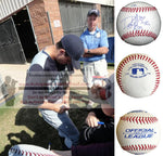 Baseballs-Autographed - Danny Hultzen Signed Rawlings ROLB1 Leather Baseball W/ Inscription, Proof- Seattle Mariners- Chicago Cubs- Collage- 1