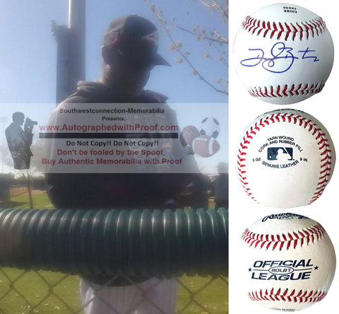 Baseballs- Autographed- Daryl Boston Signed Rawlings ROLB1 Baseball Proof Photo- Chicago White Sox- New York Mets- Collage- 2