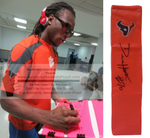 Football End Zone Pylons-Autographed - DeAndre Hopkins Signed Houston Texans Football Pylon, Proof- Collage- 2