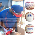 Baseballs- Autographed- Delino Deshields Jr Signed Rawlings ROLB1 Leather Baseball - Texas Rangers- Cleveland Indians- Proof Photo Collage 4