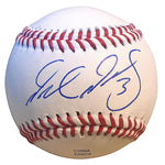Baseballs- Autographed- Delino Deshields Jr Signed Rawlings ROLB1 Leather Baseball - Texas Rangers- Cleveland Indians- Proof Photo 401