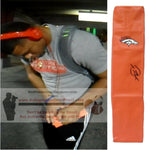 Football End Zone Pylons-Autographed - Devontae Booker Signed Denver Broncos Football Pylon, Proof- Collage- 1