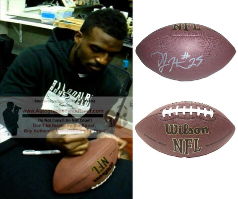 Football-Autographed - D.J. Hayden Signed NFL Wilson Composite Football, Proof Photo- Jacksonville Jaguars- Las Vegas Raiders- UH Houston Cougars- Collage- 1