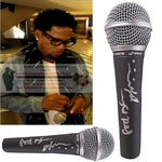 Hollywood-Autographed - D.L. Hughley Signed Pyle Full Size Microphone - Original Kings of Comedy - Proof Photo Collage 1