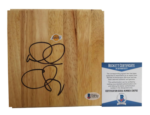 Basketball Floorboards- Autographed- Doug Christie Signed Los Angeles Lakers 6x6 Floor Board, Proof - Beckett BAS 2