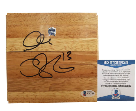 Basketball Floorboards- Autographed- Doug Christie Signed Sacramento Kings 6x6 Floor Board, Proof - Beckett BAS 3
