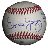 Baseballs-Autographed - Ernie Young Signed Rawlings Baseball W/ Inscription, Proof Photo- Cleveland Indians- 101