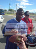 Footballs- Autographed- Antrel Rolle Signing NFL Wilson Football, Proof Photo- New York Giants
