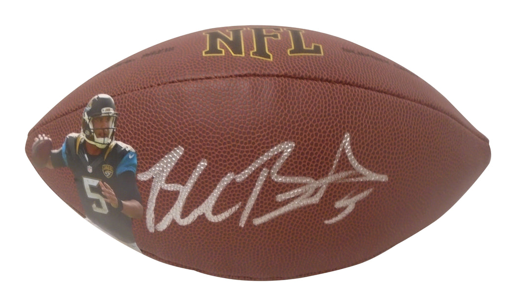 Footballs- Autographed- Blake Bortles Signed NFL Photo Football, Proof- Jacksonville Jaguars
