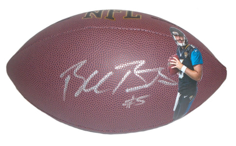 Footballs- Autographed- Blake Bortles Signed NFL Wilson Football, Proof- Jacksonville Jags