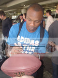 Football-Autographed - Jerrel Jernigan Signing NFL Wilson Composite Football, Proof Photo