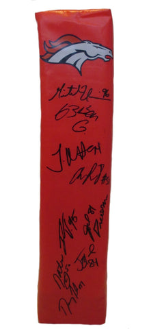Football End Zone Pylons-Autographed -2013 Denver Broncos Signed Full Size Touchdown Pylon, Proof