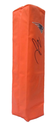 Football End Zone Pylons- Autographed- Brandin Cooks Signed New England Patriots TD Pylon, Proof