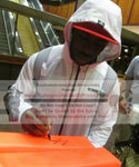 Football End Zone Pylons-Autographed - C.J. Spiller Signing New Orleans Saints Football Pylon, Proof