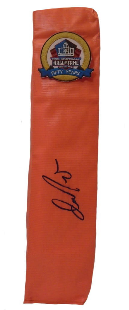 Football End Zone Pylons-Autographed - Dan Marino Signed Miami Dolphins Football TD Pylon, Proof
