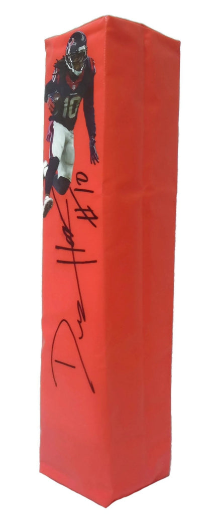 Football End Zone Pylons-Autographed - DeAndre Hopkins Signed Houston Texans Photo TD Pylon, Proof