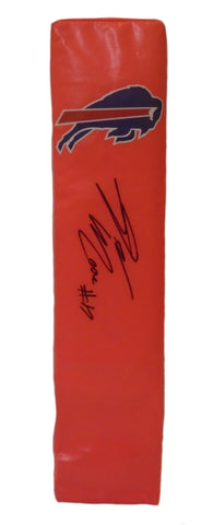 Football End Zone Pylons-Autographed - Denarius Moore Signed Buffalo Bills End Zone TD Pylon, Proof