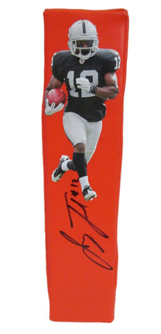 Football End Zone Pylons-Autographed - Jacoby Ford Signed Oakland Raiders Football Pylon, Proof