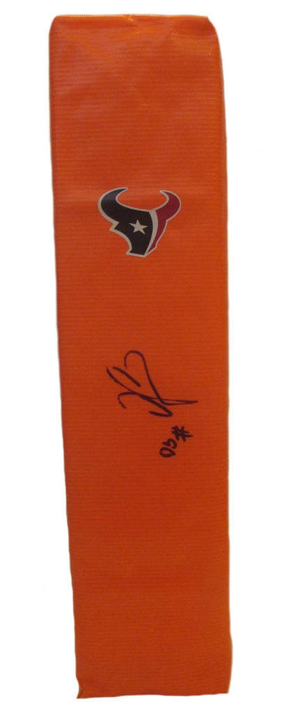Football End Zone Pylons-Autographed - Jadeveon Clowney Signed Houston Texans Football Pylon, Proof