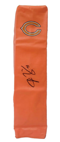 Football End Zone Pylons-Autographed - Josh Sitton Signed Chicago Bears Football TD Pylon, Proof