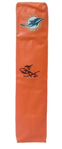 Football End Zone Pylons-Autographed - Mario Williams Signed Miami Dolphins Football TD Pylon, Proof