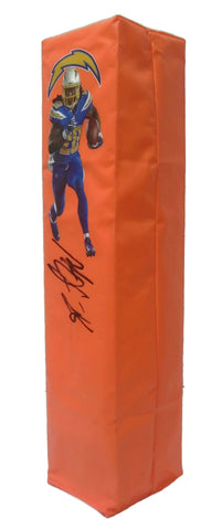 Football End Zone Pylons-Autographed - Melvin Gordon Signed LA Chargers Photo Football Pylon, Proof