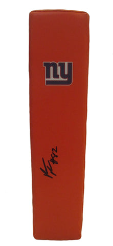 Football End Zone Pylons-Autographed - Rueben Randle Signed New York Giants Football TD Pylon, Proof