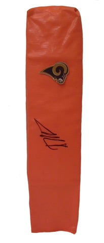 Football End Zone Pylons-Autographed - Sean Mannion Signed Los Angeles Rams Football TD Pylon, Proof