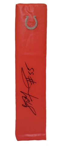 Football End Zone Pylons-Autographed - Sio Moore Signed Indianapolis Colts Football TD Pylon, Proof