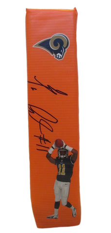 Football End Zone Pylons-Autographed - Tavon Austin Signed Los Angeles Rams Photo TD Pylon, Proof
