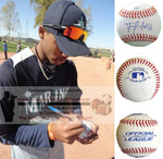 Baseballs-Autographed - Francisco Martinez Signed Rawlings ROLB1 Leather Baseball, Proof Photo- Seattle Mariners- Detroit Tigers- Collage- 1