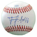 Baseballs-Autographed - Francisco Martinez Signed Rawlings ROLB1 Leather Baseball, Proof Photo- Seattle Mariners- Detroit Tigers- 101