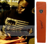 Football End Zone Pylons-Autographed - George Atkinson III Signed Oakland Raiders TD Pylon, Proof- Collage- 1