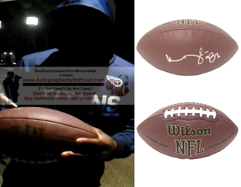 Football-Autographed - Harry Douglas Signed NFL Wilson Composite Football, Proof Photo- Tennessee Titans- Atlanta Falcons- UL Louisville Cardinal- Collage 1
