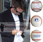 Baseballs-Autographed - Heath Bell Signed Rawlings ROLB1 Baseball W/ Inscription, Proof Photo- San Diego Padres- Tampa Bay Rays- Collage- 3