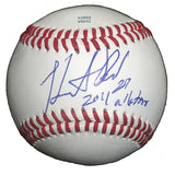 Baseballs-Autographed - Heath Bell Signed Rawlings ROLB1 Baseball W/ Inscription, Proof Photo- San Diego Padres- Tampa Bay Rays- 301