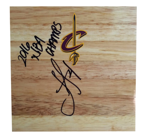 Basketball Floorboards- Autographed- Iman Shumpert Signed Cleveland Cavaliers 6x6 Floor Board, Proof