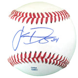 Baseballs-Autographed - Jake Diekman Signed Rawlings ROLB1 Leather Baseball, Proof Photo - Oakland Athletics A's - Texas Rangers - 301