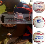 Baseballs-Autographed - James Jones Signed Rawlings ROLB1 Leather Baseball, Proof Photo- Texas Rangers- Seattle Mariners- Collage- 1