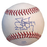 Baseballs-Autographed - James Jones Signed Rawlings ROLB1 Leather Baseball, Proof Photo- Texas Rangers- Seattle Mariners- 101