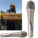 Microphones-Autographed - Jane Slater Autographed Pyle Full Size Microphone, Proof Photo - ESPN Sportscenter - NFL Network - Collage 3