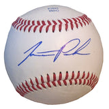 Baseballs-Autographed - Jarrett Parker Signed Rawlings ROLB1 Leather Baseball, Proof Photo - New York Mets- San Francisco Giants- 301
