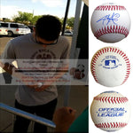 Baseballs-Autographed - Jarrod Parker Signed Rawlings ROLB1 Leather Baseball, Proof Photo - Oakland Athletics A's - Arizona Diamondbacks - Collage 1