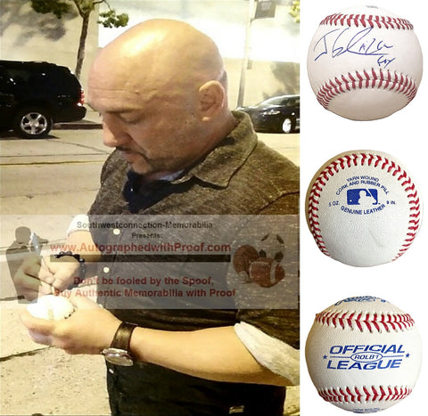 Baseballs-Autographed - Jay Glazer Signed Rawlings ROLB1 Leather Baseball, Proof Photo- Fox Sports Analyst- Collage- 1