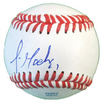 Baseballs-Autographed - Jean Machi Signed Rawlings ROLB1 Leather Baseball, Proof Photo- San Francisco Giants- 101