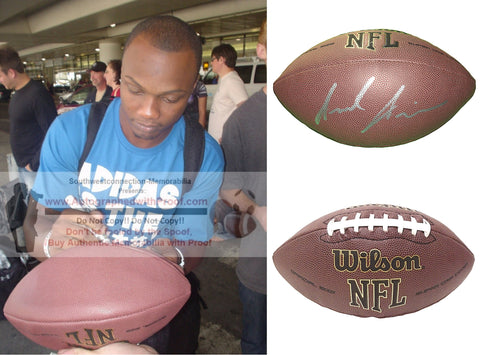 Football-Autographed - Jerrel Jernigan Signed NFL Wilson Composite Football, Proof Photo- New York Giants- Troy Trojans- Collage- 2